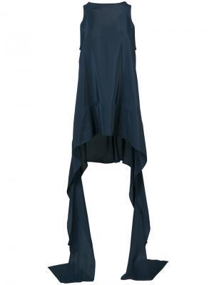 Блузка с удлиненными лямками Maticevski. Цвет: синий