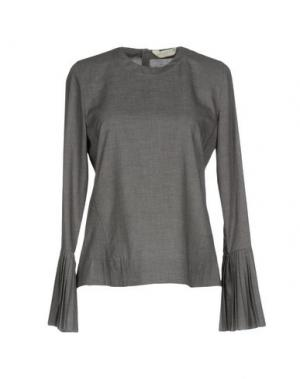 Блузка GUGLIELMINOTTI. Цвет: свинцово-серый
