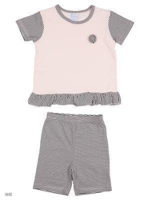 Футболка и шорты Cutie Bear. Цвет: розовый, бледно-розовый