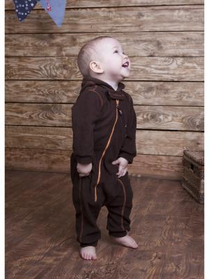 Комбинезон для малышей ЛисФлис. Цвет: коричневый, темно-коричневый