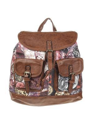 Рюкзак женский Olere. Цвет: коричневый, розовый, желтый, черный