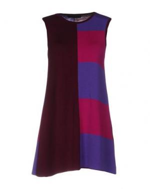 Короткое платье FABRIZIO DEL CARLO. Цвет: баклажанный