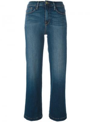 Укороченные брюки Frame Denim. Цвет: синий