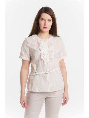 Блузка ESSA. Цвет: молочный