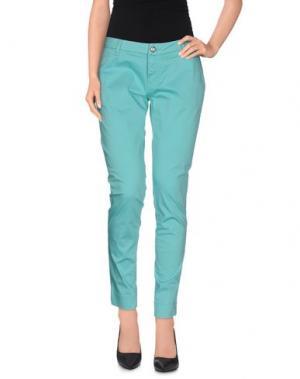 Повседневные брюки DEKKER. Цвет: светло-зеленый
