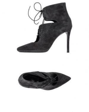 Полусапоги и высокие ботинки SPAZIOMODA. Цвет: стальной серый