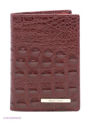 Обложка для паспорта Gianni Conti. Цвет: бордовый
