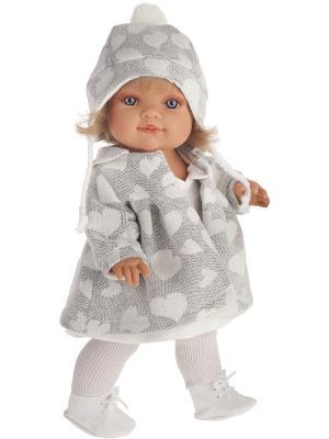 Кукла Анхелика, 38см Antonio Juan. Цвет: светло-серый