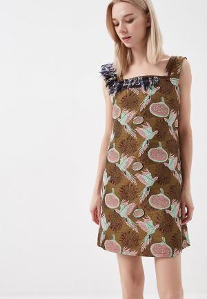 Платье Artwizard. Цвет: хаки