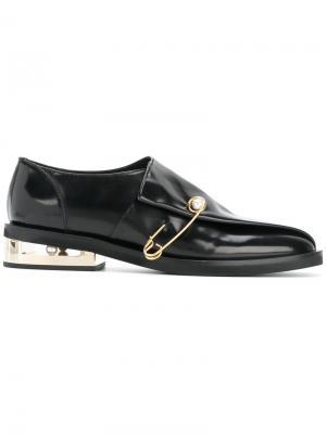 Safety pin loafers Coliac. Цвет: чёрный