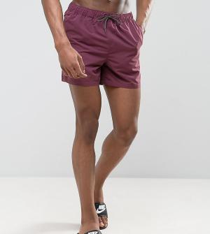 ASOS Короткие шорты для плавания сливового цвета TALL. Цвет: фиолетовый