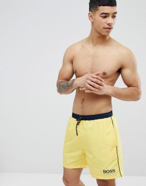 BOSS Желтые шорты для плавания Starfish. Цвет: желтый