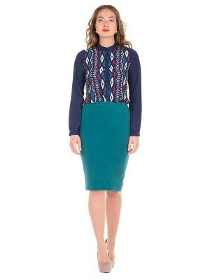 Блузка PROFITO AVANTAGE. Цвет: темно-синий