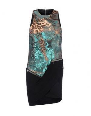 Короткое платье ANTHONY VACCARELLO. Цвет: лазурный