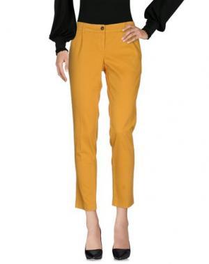 Повседневные брюки GOLD CASE SOGNO. Цвет: охра