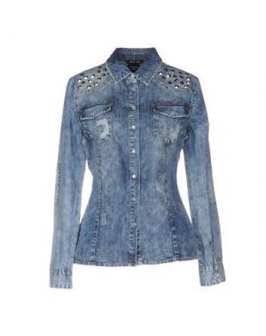 Джинсовая рубашка ODI ET AMO. Цвет: синий