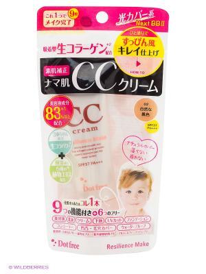 CC крем с тройным коллагеном (цвет натуральный бежевый), 25 гр. DOT FREE. Цвет: светло-бежевый