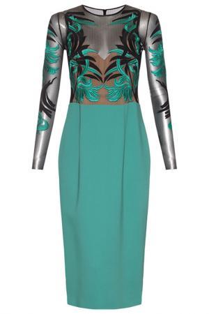 Платье Zuhair Murad. Цвет: зеленый