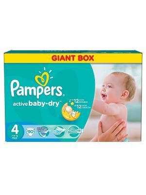 Подгузники Active Baby-Dry 8-14 кг, 4 размер, 90 шт. Pampers. Цвет: зеленый