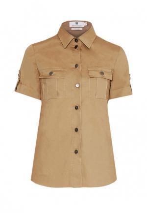 Рубашка Bergamoda. Цвет: коричневый