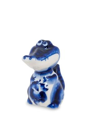 Фигурка Крокодильчик (Гжельский фарфор) Art East. Цвет: синий