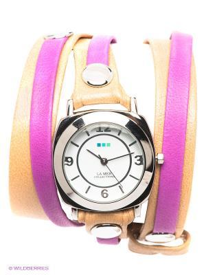 Часы La Mer Collections. Цвет: серебристый, бежевый, сиреневый