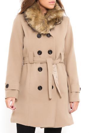 Пальто SHES SECRET SHE'S. Цвет: бежевый