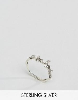 Kingsley Ryan Серебряное кольцо в виде лозы с листьями. Цвет: серебряный