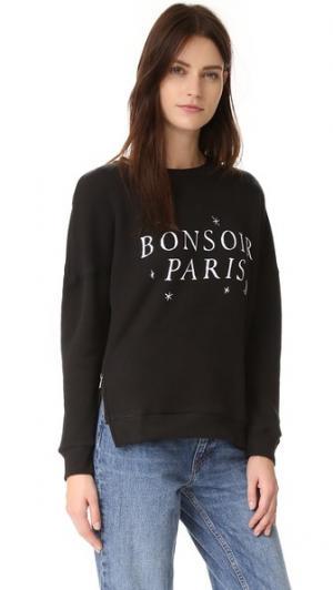 Толстовка Bonsoir Paris с молнией сбоку CHRLDR. Цвет: голубой