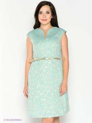 Платье Amelia Lux. Цвет: бирюзовый, бежевый
