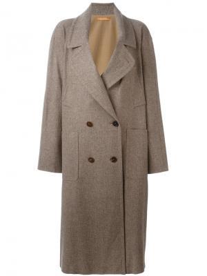 Объемное пальто Nehera. Цвет: коричневый