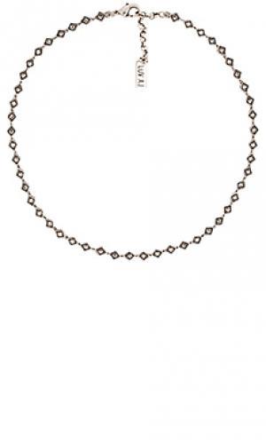 Чокер diamond kite Luv AJ. Цвет: металлический серебряный