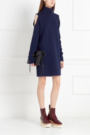 Однотонное платье ARnouveau. Цвет: синий