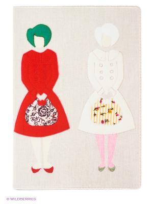 Обложка для паспорта Дамы с сумочками Mitya Veselkov. Цвет: молочный, белый, красный