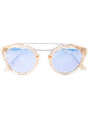 Солнцезащитные очки с голубыми стеклами Westward Leaning. Цвет: металлический