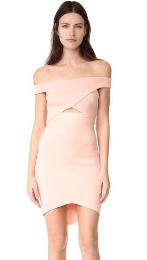 Мини-платье Desert of Paradise с открытыми плечами Bec & Bridge. Цвет: розовый