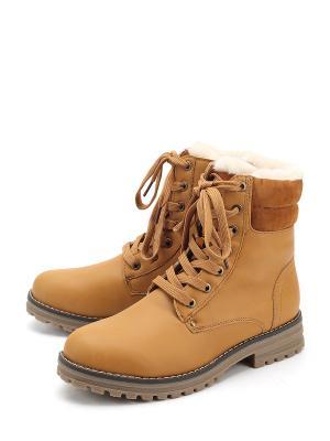 Ботинки KEDDO. Цвет: желтый