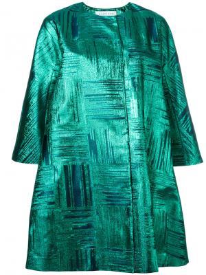 Пальто с укороченными рукавами Gianluca Capannolo. Цвет: зелёный