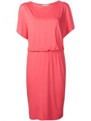Платье с драпированными деталями Trina Turk. Цвет: розовый и фиолетовый