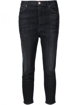 Укороченные джинсы с завышенной талией The Great. Цвет: чёрный