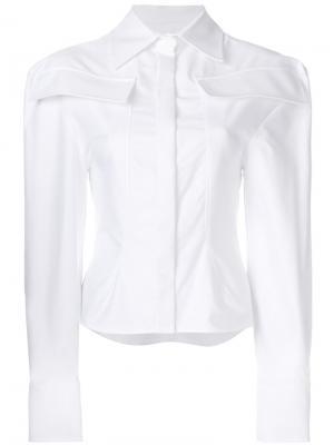 Рубашка с карманами Jacquemus. Цвет: белый