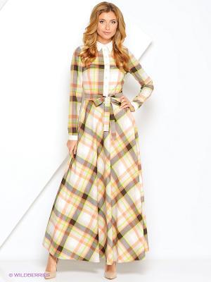 Платье Xarizmas. Цвет: бежевый, персиковый, белый, зеленый, коричневый