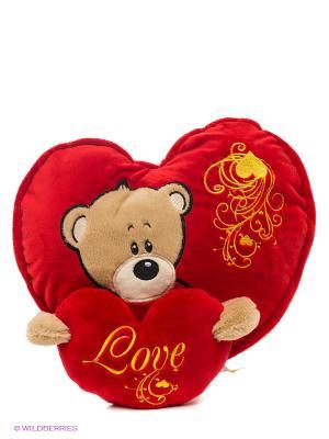 Подушка Мое сердце принадлежит тебе Lapa House. Цвет: красный, желтый, черный, бежевый