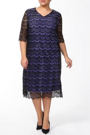 Платье Lia Mara. Цвет: сиреневый, черный