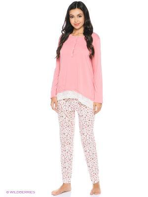 Пижама United Colors of Benetton. Цвет: розовый, кремовый, белый
