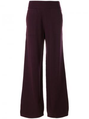 Wide leg knitted trousers Barrie. Цвет: розовый и фиолетовый