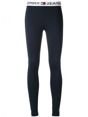 Леггинсы с принтом-логотипом Tommy Jeans. Цвет: синий