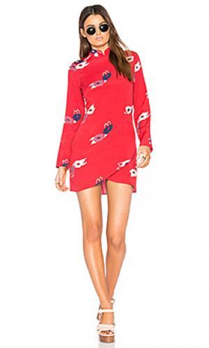 Мини платье bones ROLLAS ROLLA'S. Цвет: красный