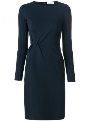 Ruched detail dress Dondup. Цвет: синий