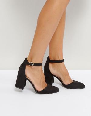 QUPID Туфли на высоком каблуке. Цвет: черный